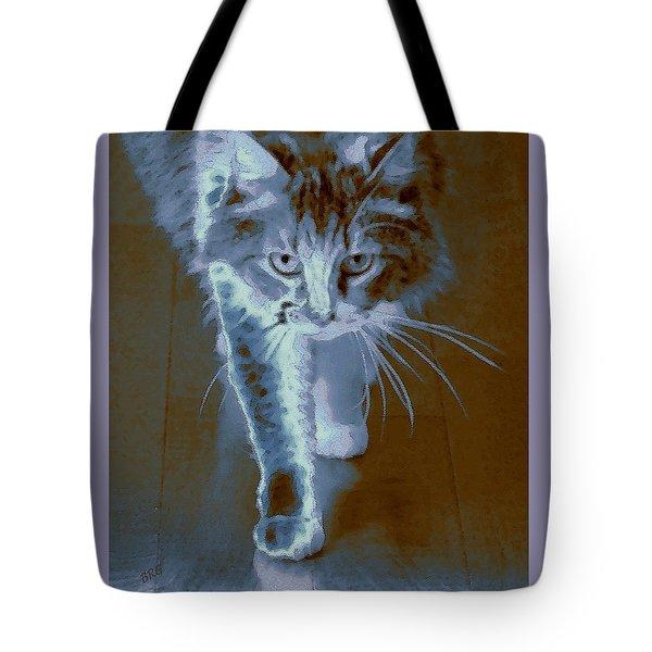 Cat Walking Tote Bag by Ben and Raisa Gertsberg