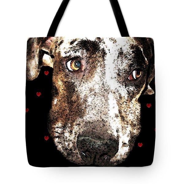 Catahoula Leopard Dog - Lover Tote Bag by Sharon Cummings