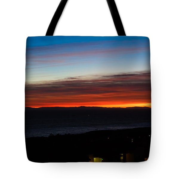Catalina Island Sunset Tote Bag by Penny Lisowski