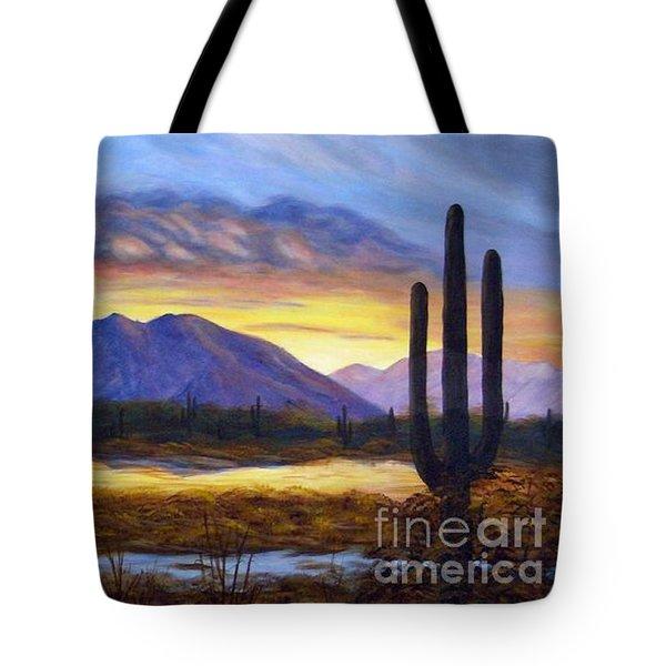 Catalina Sunrise Tote Bag by Judy Filarecki
