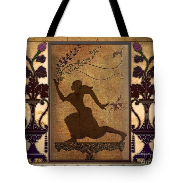 Catch My Flowers Tote Bag by Bedros Awak