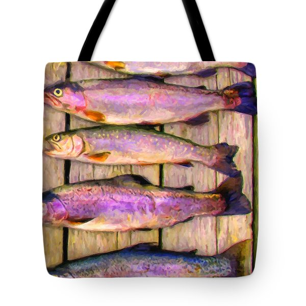 Catch of The Day - Painterly - v1 Tote Bag by Wingsdomain Art and Photography