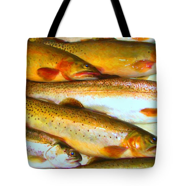Catch of The Day - Painterly - v2 Tote Bag by Wingsdomain Art and Photography