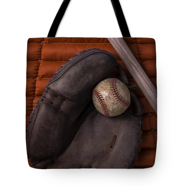 Catchers Mitt And Baseball Tote Bag by Garry Gay