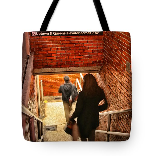 Catching The Subway Tote Bag by Karol Livote