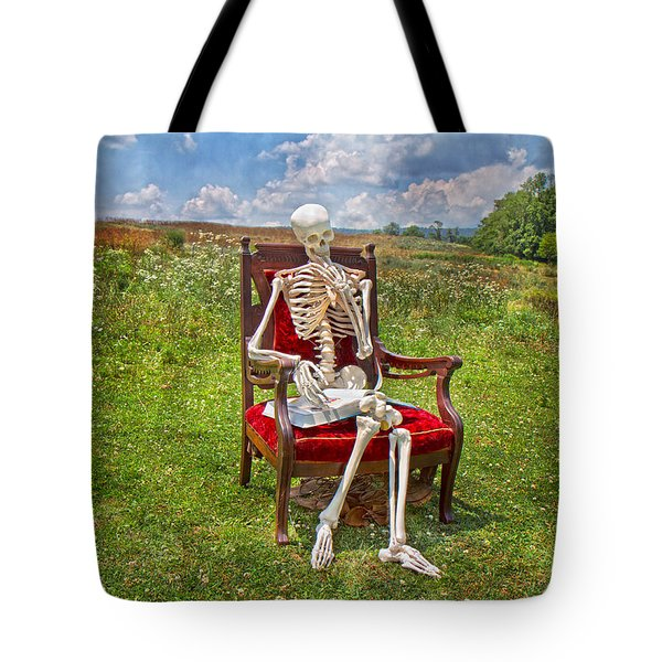 Catching up on Human Anatomy and Physiology Tote Bag by Betsy C  Knapp