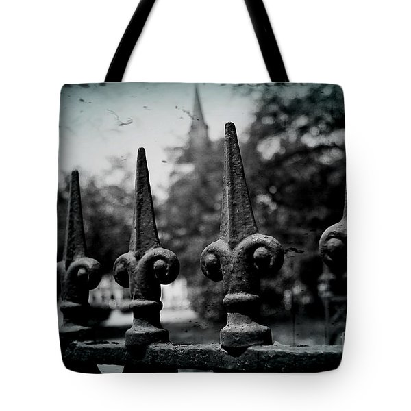Cathedral Fence Tote Bag by Scott Pellegrin