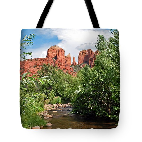 Cathedral Point - Sedona Arizona Tote Bag by Gregory Ballos