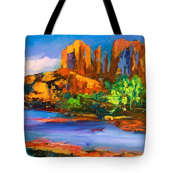 Cathedral Rock Afternoon Tote Bag by Elise Palmigiani