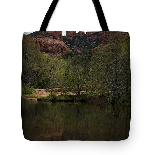 Cathedral Rock and Reflection Tote Bag by Dave Gordon