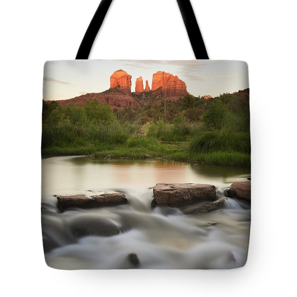 Cathedral Rock At Red Rock Tote Bag by Peter Carroll