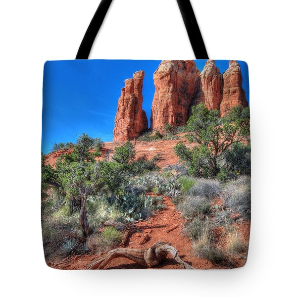 Cathedral Rock Tote Bag by Lori Deiter