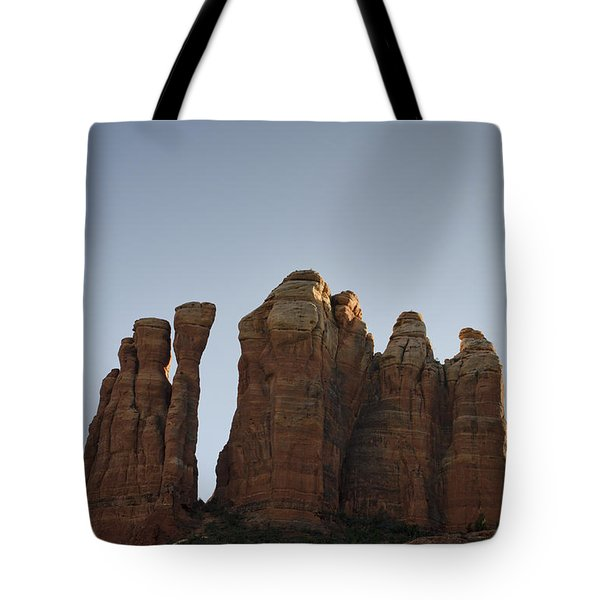Cathedral Rock Spires Tote Bag by David Gordon