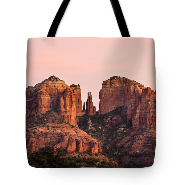 Cathedral Rock Sunset Tote Bag by Mary Jo Allen