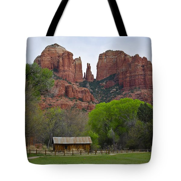 Cathedral Rock V Tote Bag by Dave Gordon