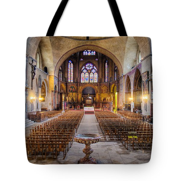 Cathedrale Saint-etienne Interior / Cahors Tote Bag by Barry O Carroll