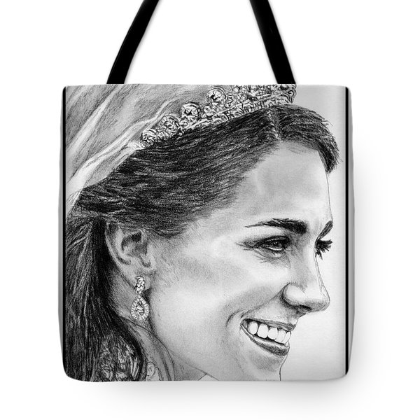 Catherine - Duchess of Cambridge in 2011 Tote Bag by J McCombie