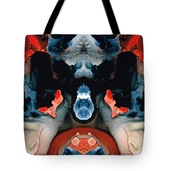 Catman Saves The World - Art By Sharon Cummings Tote Bag by Sharon Cummings