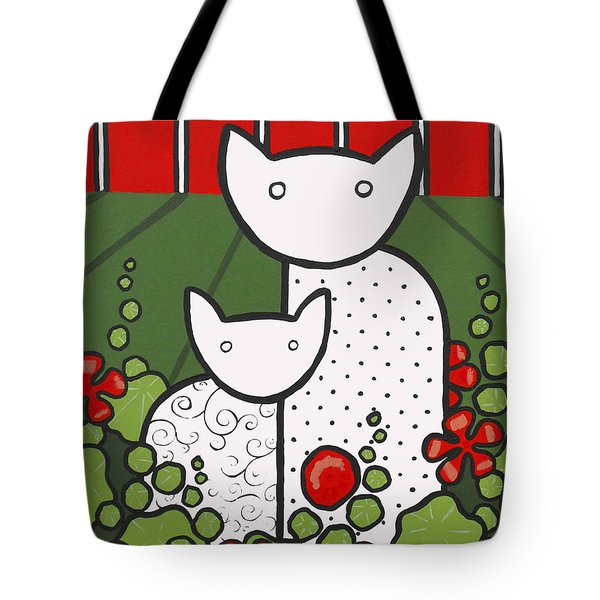 Cats 5 Tote Bag by Trudie Canwood