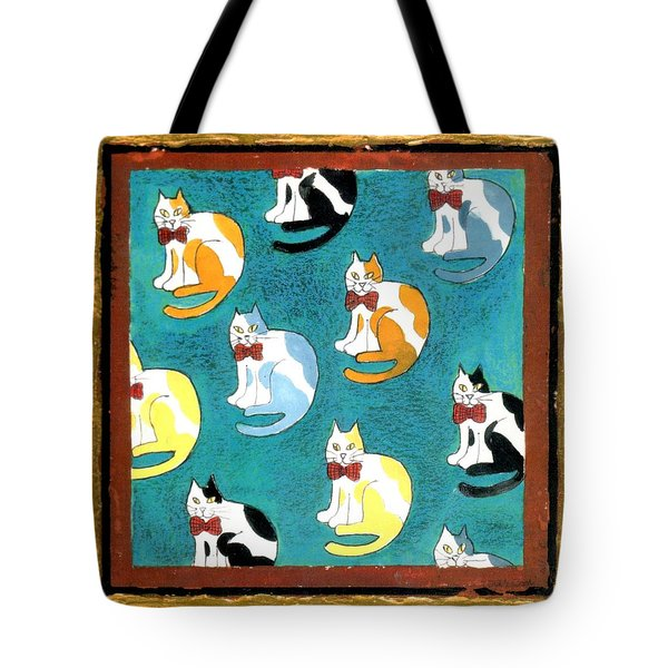 Cats Tote Bag by Genevieve Esson