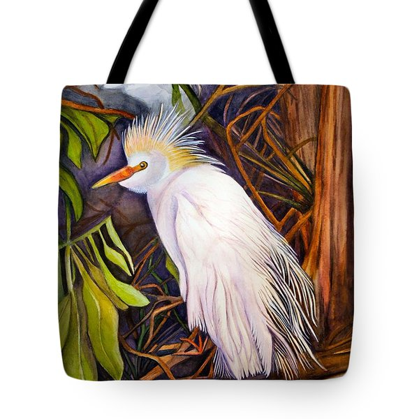 Cattle Egret Tote Bag by Elaine Hodges