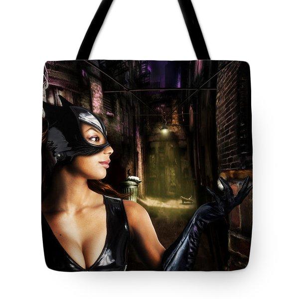 Catwoman Tote Bag by Alessandro Della Pietra
