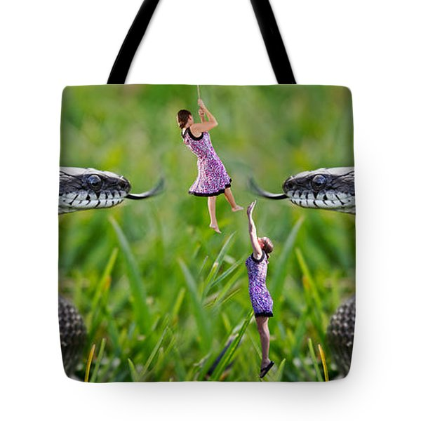 Caught in the Middle Tote Bag by Betsy C  Knapp