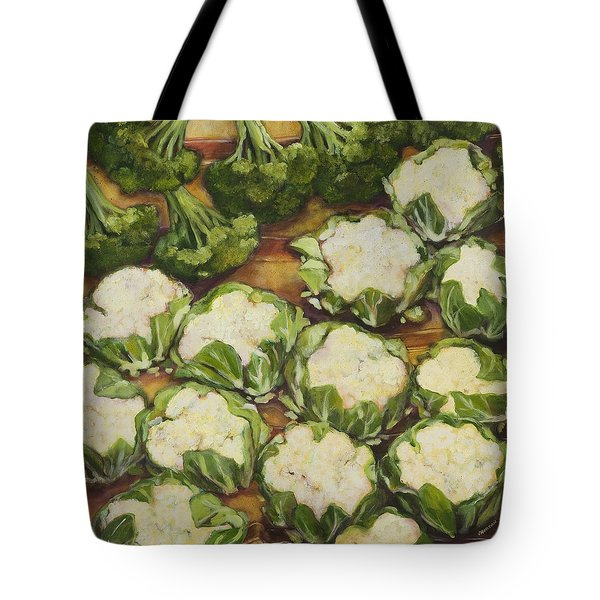 Cauliflower March Tote Bag by Jen Norton