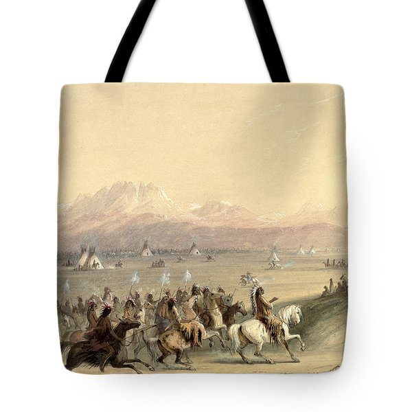 Cavalcade Tote Bag by Alfred Jacob Miller