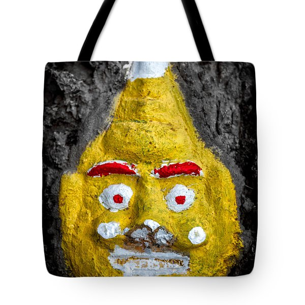 Cave Face 2 Tote Bag by Adrian Evans
