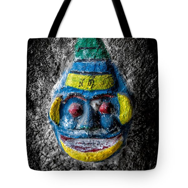 Cave Face 3 Tote Bag by Adrian Evans
