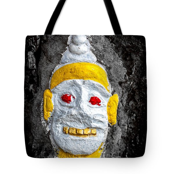 Cave Face 4 Tote Bag by Adrian Evans
