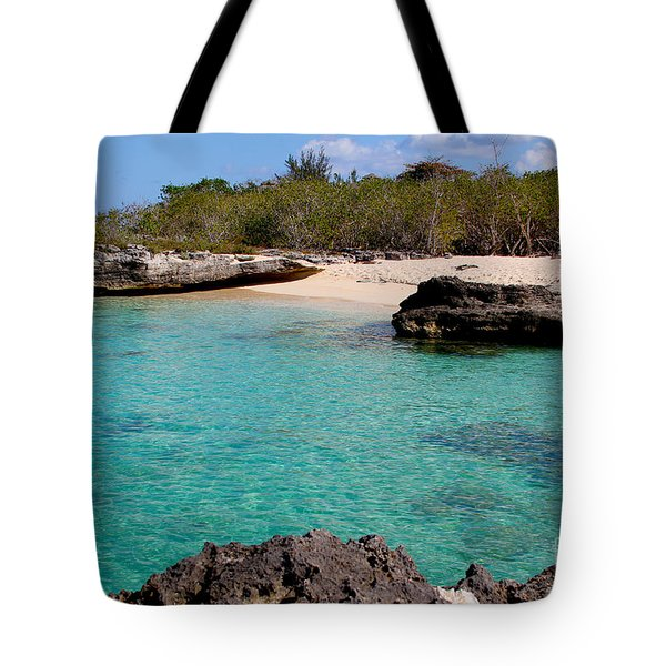 Cayman Beach Tote Bag by Carey Chen
