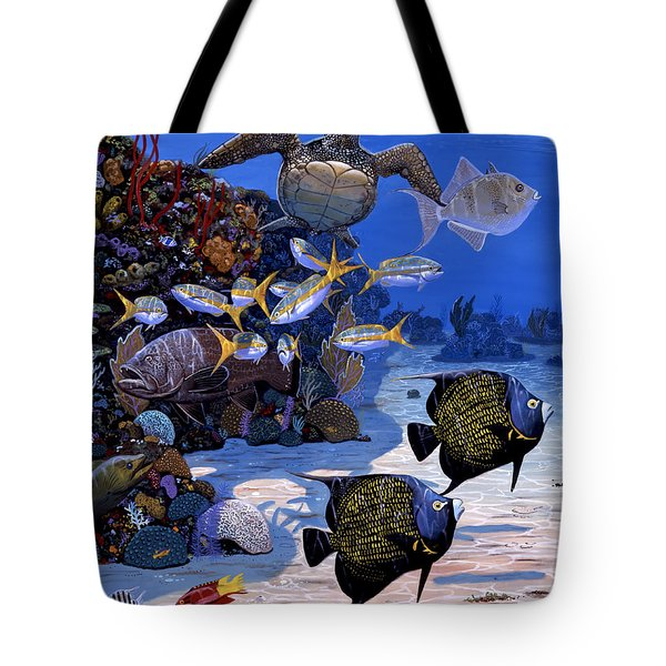 Cayman Reef Re0024 Tote Bag by Carey Chen