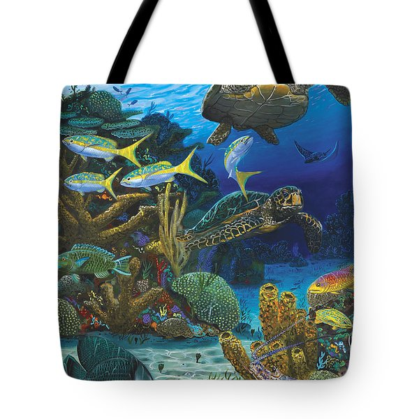 Cayman Turtles Re0010 Tote Bag by Carey Chen