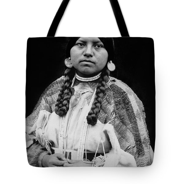 Cayuse woman circa 1910 Tote Bag by Aged Pixel