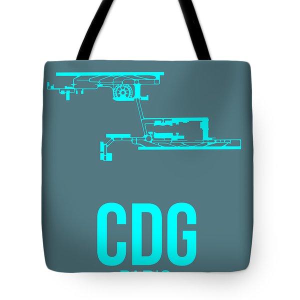 Cdg Paris Airport Poster 1 Tote Bag by Naxart Studio