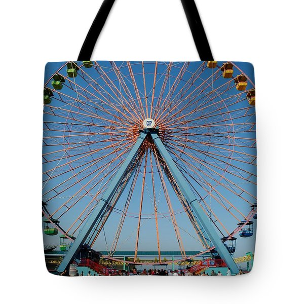 Cedar Point Sunday Tote Bag by Frozen in Time Fine Art Photography