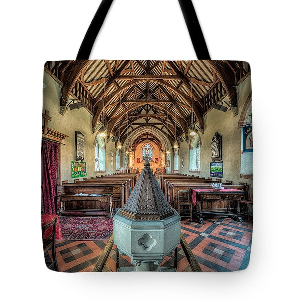 Cefn Stone Font Tote Bag by Adrian Evans