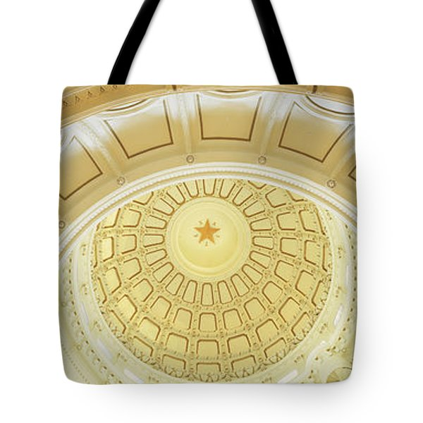 Ceiling Of The Dome Of The Texas State Tote Bag by Panoramic Images