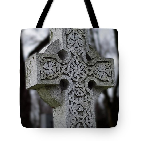 Celtic Cross 10194 Tote Bag by Guy Whiteley