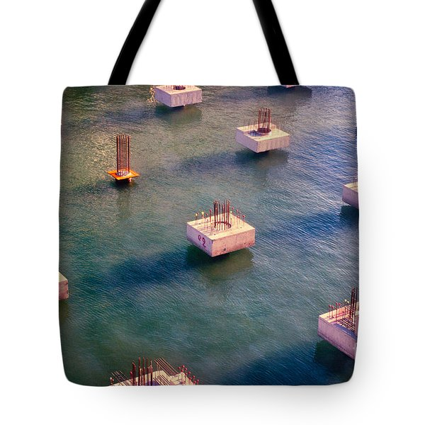 Cement Cubes Tote Bag by Silvia Ganora