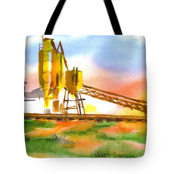 Cement Plant Across The Tracks Tote Bag by Kip DeVore