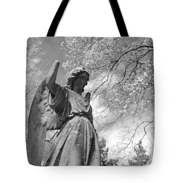 Cemetery Angel Tote Bag by Jennifer Ancker