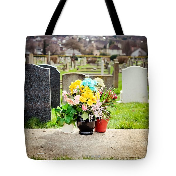 Cemetery Flowers Tote Bag by Tom Gowanlock