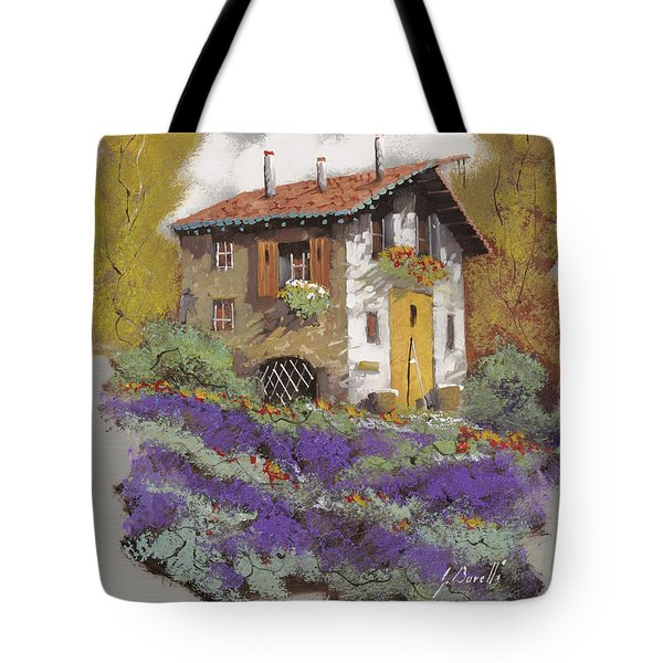 cento lavande Tote Bag by Guido Borelli