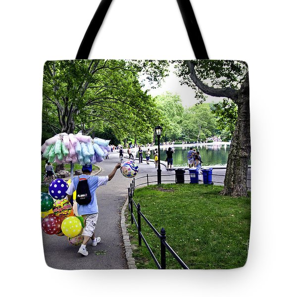 Central Park Balloon Man Tote Bag by Madeline Ellis