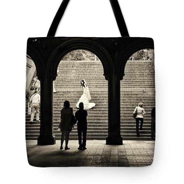 Central Park Bride Tote Bag by Madeline Ellis
