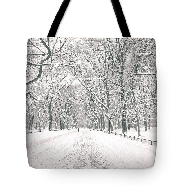 Central Park Winter - Poet's Walk in the Snow - New York City Tote Bag by Vivienne Gucwa