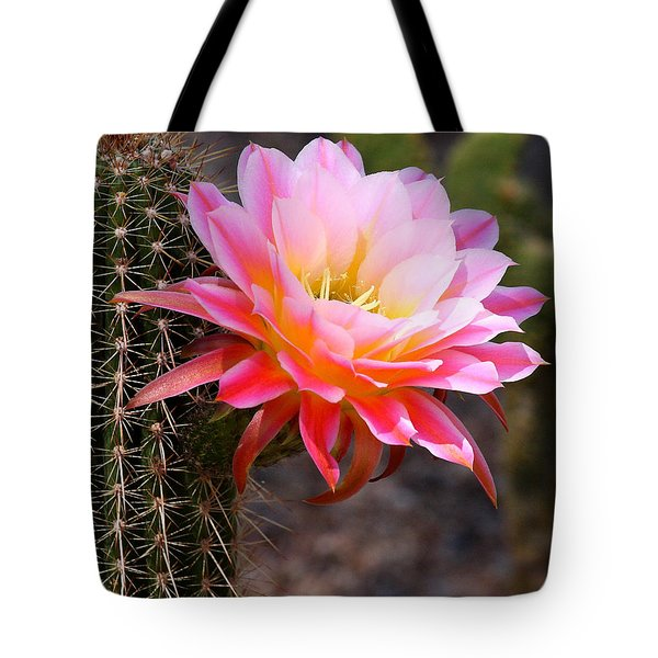 Cereus In Pink Tote Bag by Ruth Jolly